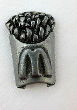 """Pewter Miniature McDonald's French Fries Starbucks Monopoly Replacement Piece 1"""""""