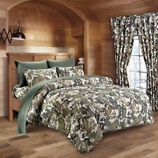 4 PC MILITARY CAMO COMFORTER AND SHEET SET TWIN BEDDING PILLOW CASES