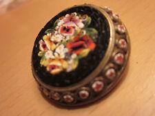 Beautiful Antique Victorian  Micromosaic Pin