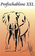 Schablone,,Wandschablone,,Afrikamotiv,,Wandschablonen - Elefant XXL 67x50cm
