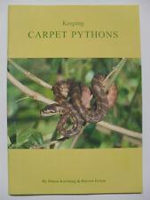ARK - 009 Keeping Carpet Pythons REPTILE BOOK By Simon Kortlang & Darren Green
