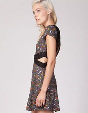 """NEW with Tags Cut out back HUNTINGBIRD Floral """"Port Dress"""" Size 12 RRP $89.95"""