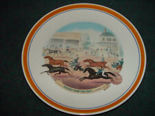 "Currier and Ives Decorative Dinner Plates ""Coming From The Trot "" Mint New"