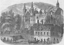 ROYAL PALACE OF WESTMINSTER. The Speaker's House from the river, in 1830 c1880