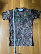 Under Armour Men's L Short Sleeve Fitted Shirt Realtree Hardwood camo