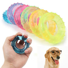 Colorful TPR Donuts Pet Dog Cat Puppy Dental Teeth Chew Ring Play Toy Tools