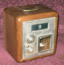 Walnut Post Office Box Door Bank-Circa 1886-Nickel Plated-Size 2