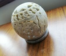 Marble Elephant Candle Holder Tealight Engraved Moroccan