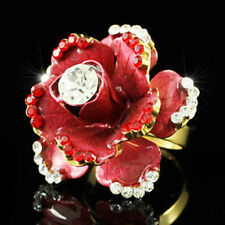Cocktail Flowers & Plants Round Costume Rings