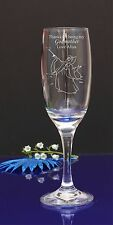 Personalised Engraved-Thank you for being my Godmother Disney fairy Champagne196