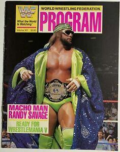 WWF 1989 Wrestling Program Magazine 167 RANDY SAVAGE  wwe MERCHANDISE CATALOG