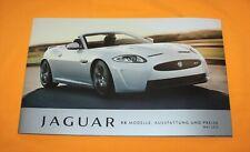 Jaguar XK 2012 Prospekt Brochure Depliant Catalog Prospetto Folder Broschyr XKR