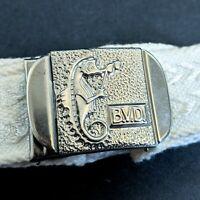Vtg 1930s 1940s BVD Belt Buckle Seahorse Opera Glasses Advertising Silver Tone