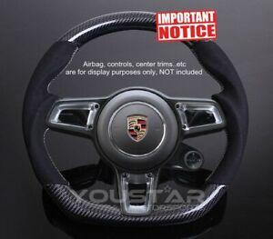 Genuine Carbon Alcantara Steering Wheel for Porsche 991 911 Boxster Cayman Macan
