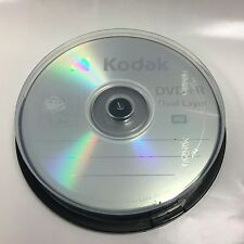 10-PK Kodak Logo Top DVD+R DL Dual Double Layer Disc Media 8.5GB Cake Box