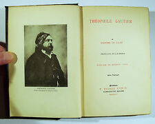 1893 THEOPHILE GAUTIER Maxime du Camp T Fisher Unwin The Great French Writers HB