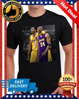 Legends Of Basketball Michael Jordan Kobe Bryant Black Men T Shirt Reprint M-3XL