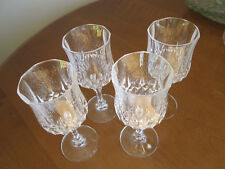 4 Longchamp Cristal d'Arques-Durand 24% Lead Crystal Wine Glass / Goblet