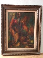 A. K. Wilson Abstract Oil On Masonite Painting Three Woman