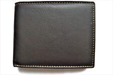 Mens Soft Genuine Cow Leather Wallet / Coin Purse / SIM Holder/ Tri-fold  A++