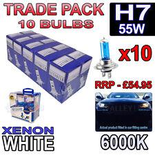 10 x H7 55w Xenon White Halogen Bulbs 6000k - Trade Bulk Wholesale Headlight