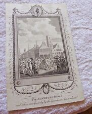 ANTIQUE PRINT ADAMITES NETHERLANDS WORE NO CLOTHING DURING RELIGIOUS c.1794