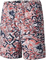 Columbia Mens PFG Backcast II Printed White Deep Sea Batik Board Shorts