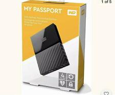 "Western Digital My Passport 2.5"" 4TB External Hard Disk Drive - Black..."