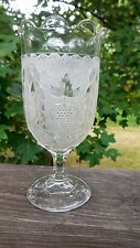 "EAPG - US Glass (Doyle & Co.) #28 ""Stippled Grape & Festoon"" celery"