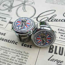 Vintage 'British League of Racing Cyclists' Racing Bar Plugs, Caps, Repro