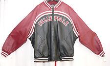1f47874f6e2 Pelle Pelle Black   Merlot Plush Soda Club Leather Jacket Size 54