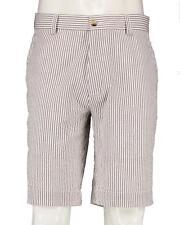 "Alan Flusser - NWT - Mens 40 - 9.5"" Charcoal Gray Seersucker Striped Shorts"