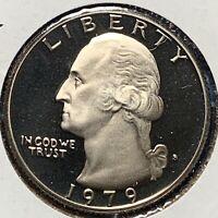 1979-S 25C, Type 1, Washington Quarter, DEEP CAMEO PROOF (51445)