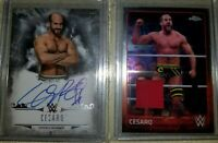 2016 2015 TOPPS CHROME UNDISPUTED WWE CESARO RELIC AUTOGRAPH AUTO CARD 50/50 1/1