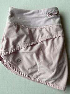 "Lululemon Shorts Light Pink Drawstring Sz 8 Inseam 2.5"""