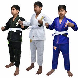 VELO Kids BJJ GI Brazilian Jiu Jitsu Suit Uniform Boy KOO, KO, K1, K2, K3