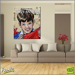 Daily Mail Boys Annual Abstract Realism Painting Book Canvas 120cmx100cm Franko