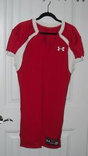 Nwot Mens Under Armour Authentic Fitted Red Silky Football Jersey - Size Medium