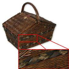Retro Picknickkorb mit Stielgläsern für 4 Personen, Picknick Koffer Set