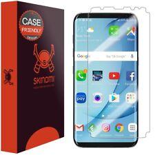 Skinomi TechSkin Clear Film Screen Protector for Galaxy S8 Plus Case Friendly