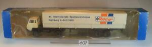 Roco 1/87 Nr. 2890 Steyr 91 Sattelzug LKW Pritsche/Plane Messe 1990 OVP #1437