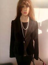 Size8 Ladies Velvet Jacket Blazer Victorian goth steampunk black vampire Hallowe