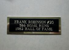 "Frank Robinson Nameplate For A Baseball Ball Cube Square Or Card Plaque 1"" X 3"""