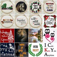 DMC Modern Cross Stitch Embroidery Pattern Kit Chart PDF Counted 14 Count