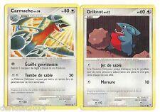 lot 2 cartes pokémon carmache 59/147 + griknot 106/147 vainqueurs supremes fr