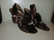 New Gianna Meliani Italian leather sandals copper shimmer, size 36.5
