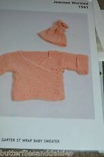 Plymouth Knitting Pattern 1561Baby Wrap Sweater Knitting
