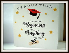 Hand made Graduation Card Hat & Scroll