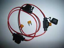 (3) 18 Gauge Ga AWG ATM In-Line Fuse Holder Cover 5A Fuse GPS Car 12 Volt Power