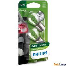 PHILIPS P21W LongLife EcoVision Indicator 12V 21W BA15s 12498LLECOB2 Twin